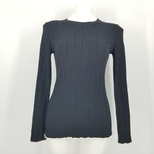 Ann Taylor Crew Neck Ribbed Sweater Size S